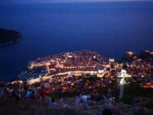 ドブロブニクの夜景