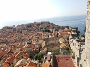 ドブロブニク旧市街城壁からの眺め