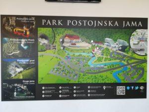 ポストイナ鍾乳洞全体図